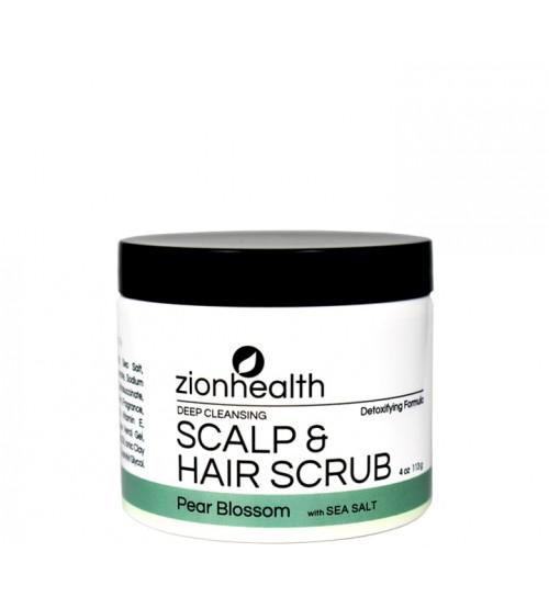 Deep Cleansing Scalp & Hair Scrub Pear Blossom with Sea Salt