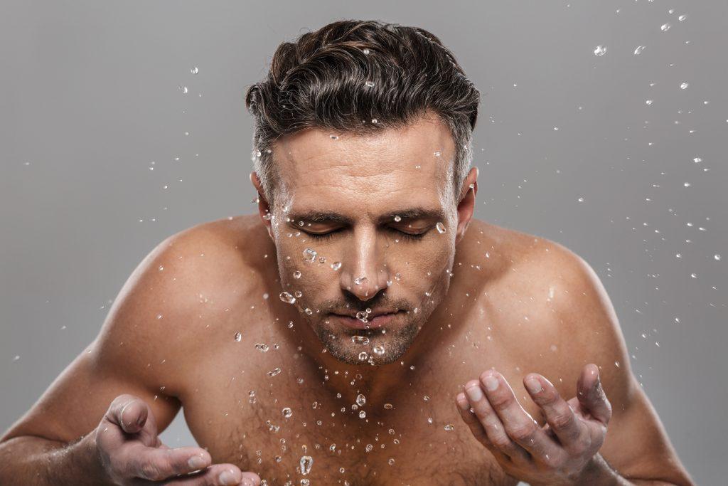 man skincare routine Adama minerals